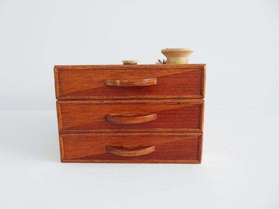 Set of two stackable drawers teak veneered, wooden shelf, wooden storage