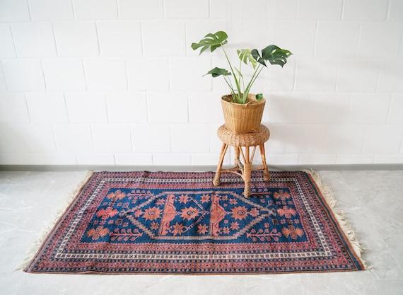 Yagcibedir vintage carpet hand-knotted, Kelim, large carpet, wall hangings