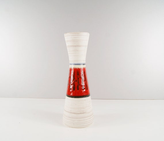Bay Ceramic Vase, funnel, Flower Vase German Ceramics, Mid Century Vase