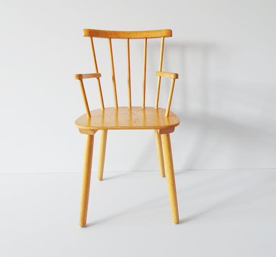 Children's chair wood mid century, wooden chair, sprout chair, children's furniture, armchair