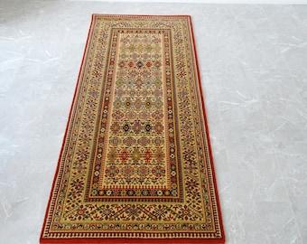 Oriental Carpet Wool, Vintage Keshan Carpet Runner 86 x 180 cm
