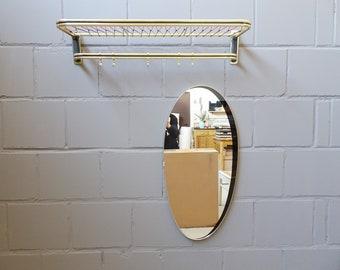 golden wall wardrobes with mirror, mid century hallway set, aluminum wardrobe and wall mirror