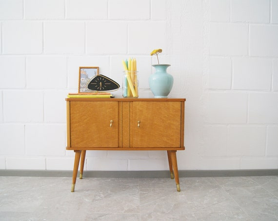 50s wooden chest of drawers, small sideboard