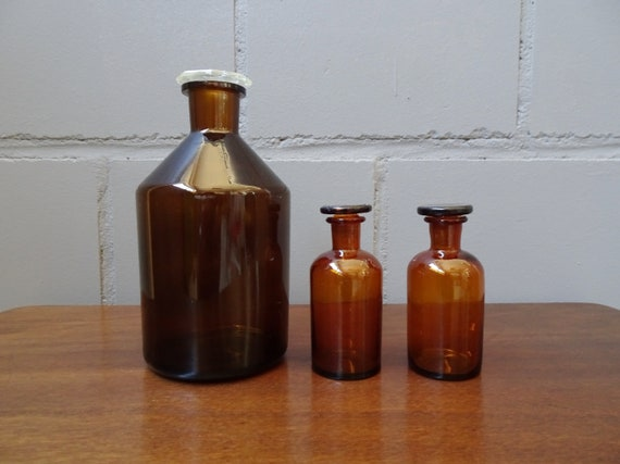 brown pharmacist bottles set, brown glass, glass bottles storage, laboratory glasses
