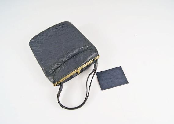 Black leather bag, simple evening bag