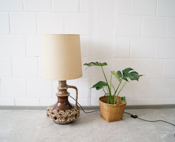 Large Table Lamp Ceramic with Illuminated Foot, Fat Lava Lamp
