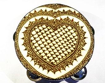 Heart henna, Henna Tambourine, Belly dance, Henna heart, Bellydance, Tribal dance, Belly dancing, Medieval costume, Middle eastern