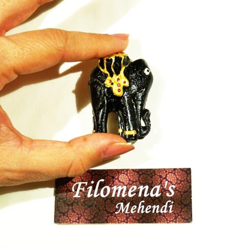 Polymer clay Home fragrances Bohemian Elephant decor Terracotta Yoga Elephant incense Spiritual Indian elephant Incense burner