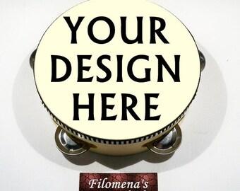 Custom design, Henna tambourine, Destination Wedding, Hand drum, Middle eastern, Musical instruments, Custom made, Hippie tambourine