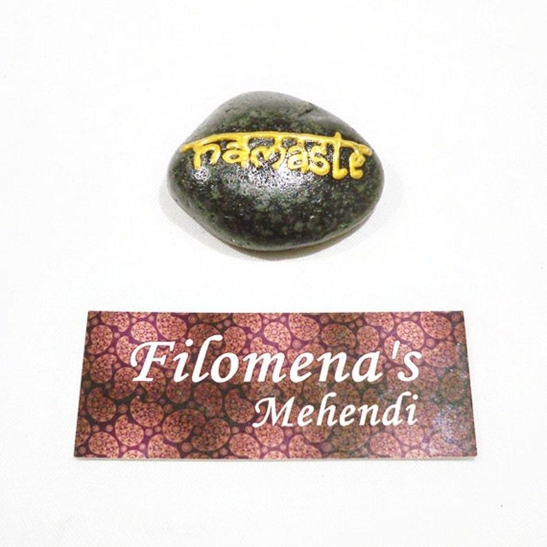 Protection stone Healing stones Stone art Henna stone Inspirational Painted Stone Namaste stone Painted rocks Garden stone