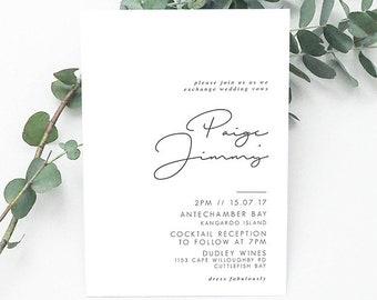 RUBI Printable Invitation, Digital Invitation, Digital Engagement Invite, Wedding Invitation, Engagement Invitation