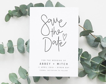 AUTUMN Hand Lettered Printable Save the Date, Digital Invitation, Engagement Invite, Wedding Invitation, Save the Date Card, Hand lettering