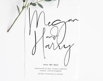 HARPER Printable Save the Date, Digital Invitation, Engagement Invite, Wedding Invitation, Save the Date Card
