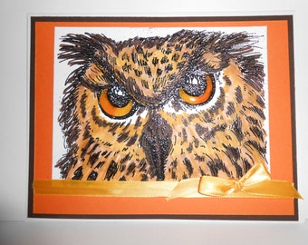 Owl Inspired Greeting Card