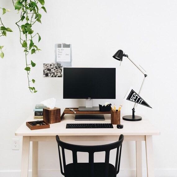 Modern Wood Desk Accessory Set