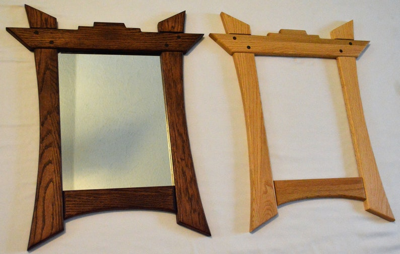 Wood Mirror Frame Asian Frame Unique Picture Frame Wood Frame
