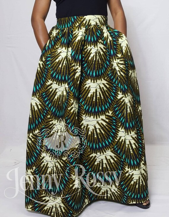 African MAXI SKIRT _African clothing Skirt _African Wax Print