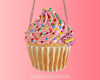 Confetti Cupcake Purse Pink Frost Cream Pastel Bag Cupcakes Party Birthday Cake Cakes Food Art Artist Rommydebommy Cute