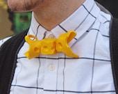 Cheese Bow tie Bowtie Milk Cow Dutch Fun Design Designer Rommydebommy Menswear Mensstyle accessories Men Jewelry Yellow