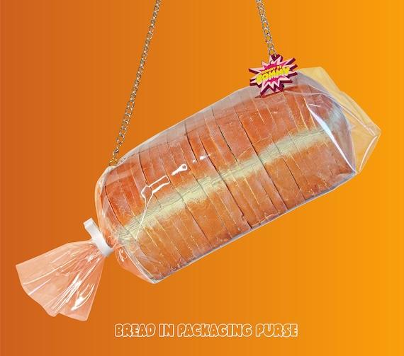 Bread In Packaging Purse Bread Purse Bread Bag Bread Handbag Bread Package Bread Packaging Cute Purse Art Rommydebommy Cute Piece Of Bread by Etsy