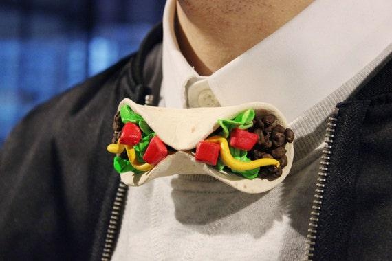 Mens Bowtie Fiesta Party Taco Truck Taco Bowtie Hard Shell Mexican Fast Food Pattern Boys Bowties Unusual Bowties  