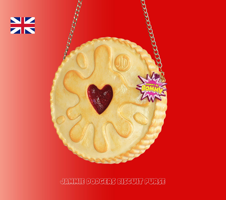 Jammie dodgers biscuit purse jammie dodgers purse biscuit bag | Etsy