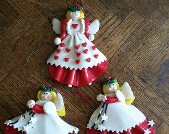 Christmas Angel Ornaments, Home Interiors Angels, Faux Cookie Ornaments, Angel Ornaments, Home Interiors Ornaments
