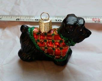 mercury glass black scottie dogchristmas dog ornament scottie dog ornament dog sweater ornament - Scottie Dog Christmas Decorations