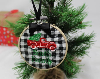 Vintage Pickup Truck Ornament-Personalized Embroidery
