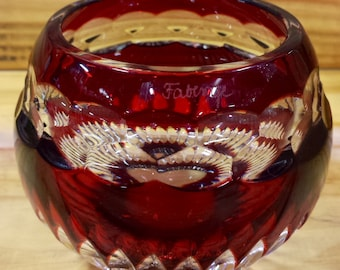 Faberge Ruby Red Candle Holder  Box 427