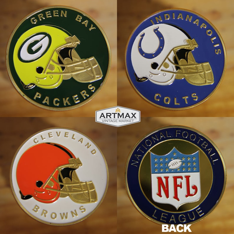 da9702fe NFL Football Teams Collectible Challenge Coin Free Shipping in the USA