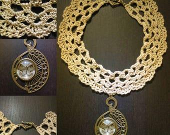 The Choker necklace lace crochet