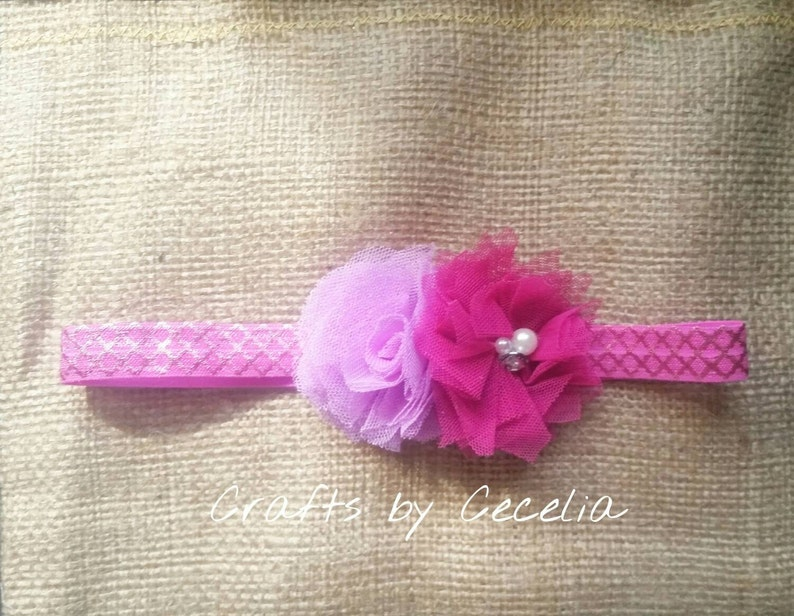 summer headband Valentine/'s day photo prop baby headband Metallic purple and pink headband purple headband pink headband