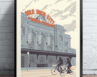 Denver Union Station Screen Printed Poster