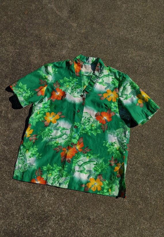 1950s/1960s Hawaiian Tiki Shirt / M