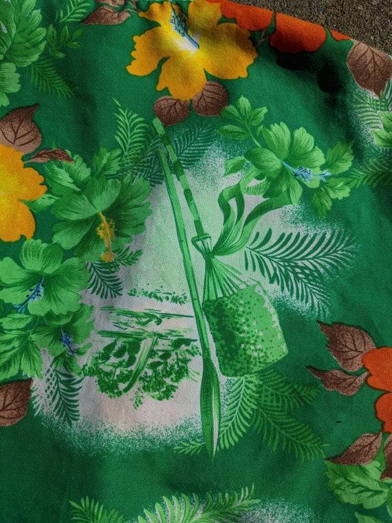 1950s/1960s Hawaiian Tiki Shirt / M - image 4