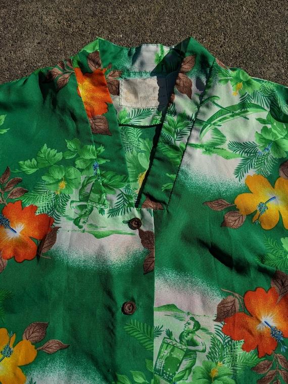 1950s/1960s Hawaiian Tiki Shirt / M - image 3