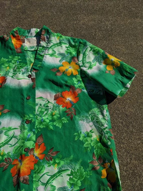 1950s/1960s Hawaiian Tiki Shirt / M - image 9