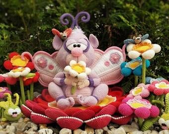 prince of flowers, crochet pattern by mala designs