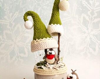 robin birds and hats - crochet pattern by mala designs ®