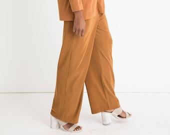 90s Mustard Crop Pants L