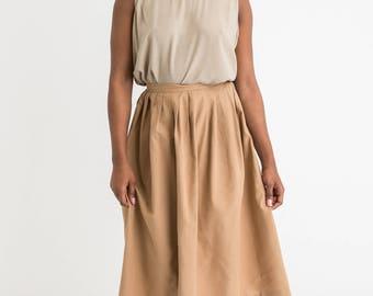 90s Pleated Full Skirt S