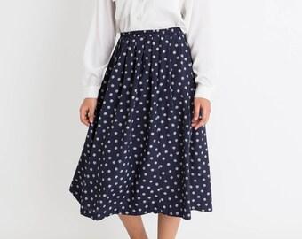 80 Navy Dot Skirt L