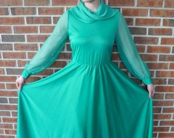 1970's Maxi Dress // Vintage Prom Dress
