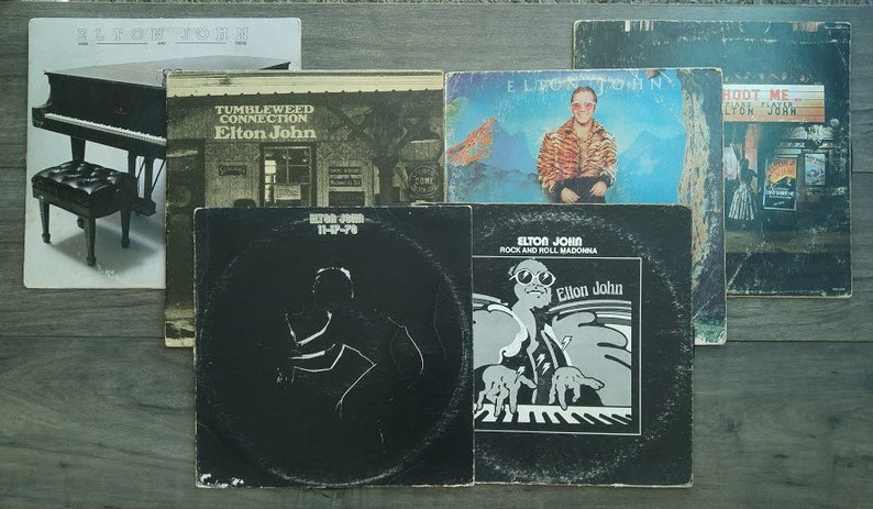 Elton John - Set of 6 - (1976, '70, '70, '77, 74, '72) - Vinyl Albums