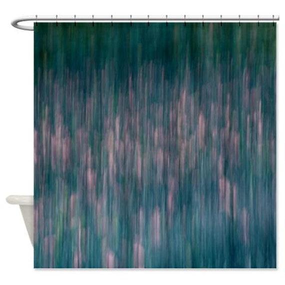 Abstrakte Duschvorhang Dusche Petrol Vorhang Grun Petrol Rosa Etsy