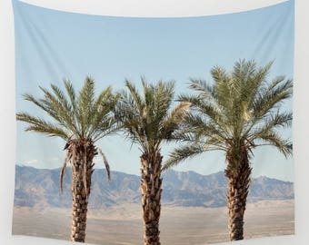 Palm tree wall tapestry, large wall hanging decor, extra large wall art, scenic tapestry, mountain tapestry, southwest wall decor