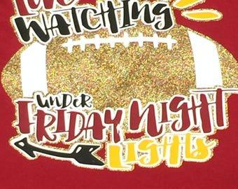 School Spirit Shirt Football Shirt Glitter Shirt Etsy
