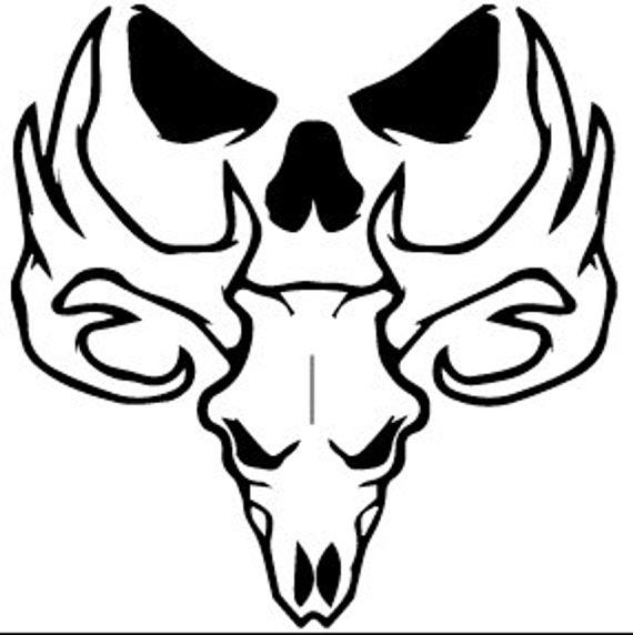 bone collector decal animal skull sticker skull decal skull etsy