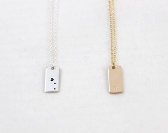 Rectangle necklace etsy more colors aloadofball Image collections